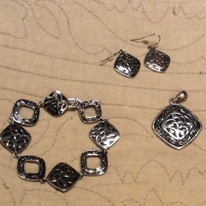 LIA SOPHIA Bracelet, Pendant, Earring Set
